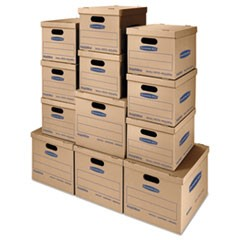 SmoothMove Classic Moving Boxes, 8-SM: 15l x 12w x 10h, 4-MED: 18l x 15w x 14h