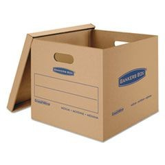 SmoothMove Classic Moving/Storage Boxes, 18l x 15w x 14h, Kraft, 8/Carton