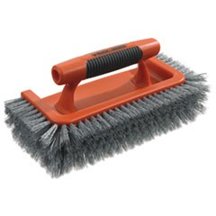 "All Around Brush, Plastic, 10"" Brush, 1"" Bristles, Orange/Gray, 3 Pack"