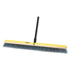 "Medium Floor Sweeper, 36"" x 3"" Bristles, Plastic/Tampico, Gray, 2/Carton"