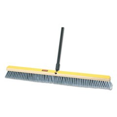 "Fine Floor Sweeper, Polypropylene Fill, 36"" Brush, 3"" Bristles, Gray, 2/Carton"