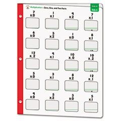 Math Windows, Multiplication, Five Write-On/Wipe-Away Cards per Pack