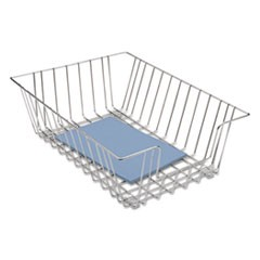 Wire Desk Tray Organizer, One Tier, Wire, Silver
