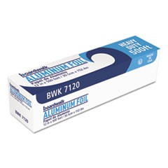 "Heavy-Duty Aluminum Foil Roll, 12"" x 500ft, 20 Micron Thickness, Silver"