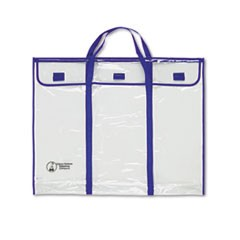 "Bulletin Board Storage Bag, Blue/Clear, 30"" x 24"""