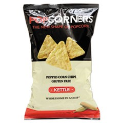 Popcorners Popped-Corn Chips, Kettle, 5oz Bag, 12/Carton