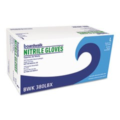 Disposable General-Purpose Nitrile Gloves, Large, Blue, 4 mil, 1000/Carton