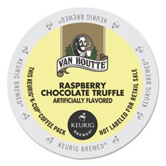 Flavored Coffee K-Cups, Raspberry Chocolate Truffle, 24/Box