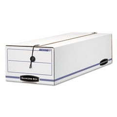 LIBERTY Storage Box, Record Form, 9 1/2 x 23 1/4 x 6, White/Blue, 12/Carton