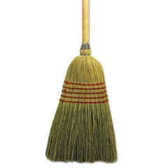 "Parlor Broom, Yucca/Corn Fiber Bristles, 55.5"", Wood Handle, Natural"