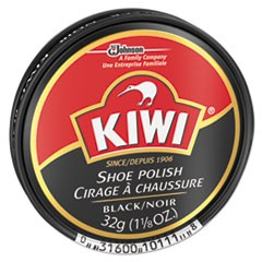 KIWI Black Shoe Polish, 32 g Tin, 144/Carton