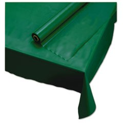 "Plastic Roll Tablecover, 40"" x 100 ft, Hunter Green"