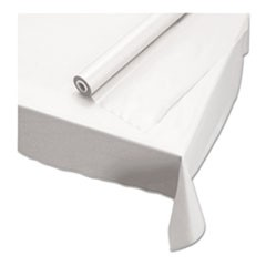 "Plastic Roll Tablecover, 40"" x 100 ft, White"