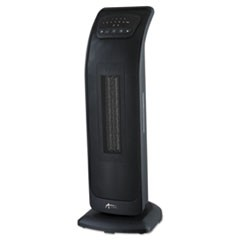 "Tower Ceramic Heater with Remote Control, 9 1/8""w x 8 3/8""d x 23""h, Black"