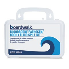 "Bloodborne Pathogen Kit, 30 Pieces, 3"" x 8"" x 5"", White"