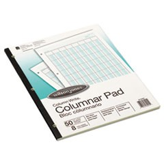 Accounting Pad, Eight Six-Unit Columns, 8-1/2 x 11, 50-Sheet Pad