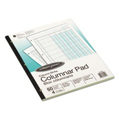 Accounting Pad, Four Eight-Unit Columns, Two-sided, Letter, 50-Sheet Pad