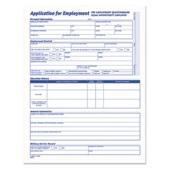 Comprehensive Employee Application Form, 8 1/2 x 11, 25 Forms