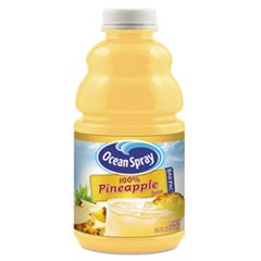 100% Juice, Pineapple, 32 oz Bottle, 12/Carton