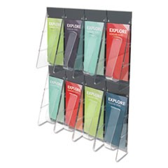 Multi-Pocket Wall-Mount Literature Systems, 18 1/4w x 23 3/4h, Clear/Black