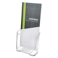 DocuHolder for Countertop or Wall Mount Use, 4 1/4w x 3 1/4d x 7 3/4h, Clear