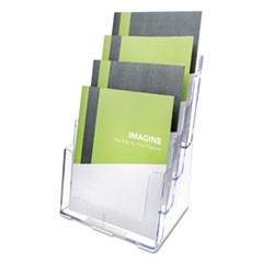 Multi Compartment DocuHolder, Four Compartments, 9 3/8w x 7d x 13 5/8h, Clear