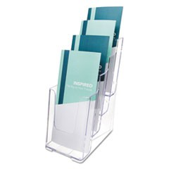 Multi Compartment DocuHolder, Four Compartments, 4 7/8w x 6 1/8d x 10h, Clear