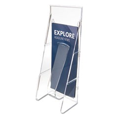 Stand Tall Literature Holder, 4 9/16w x 3 1/4d x 11 7/8h, Clear