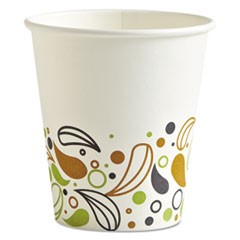 Deerfield Printed Paper Hot Cups, 10 oz, 50 Cups/Pack, 20 Packs/Carton