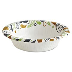 Deerfield Printed Paper Bowl, 12 oz, Coated/Soak Proof, 125 Bowls/Pack, 8 Pks/Ct