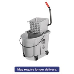 Executive WaveBrake Side-Press Mop Bucket, Gray 35 Quart