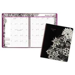 Floradoodle Professional Monthly Planner, 9 3/8 x 11 3/8, 2017-2018