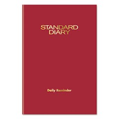 Standard Diary Recycled Daily Reminder, Red, 5 1/8 x 7 1/2, 2018