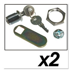 Replacement Lock and Keys for Cleaning Carts, Silver