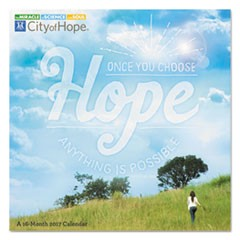 Day Dream City Of Hope Wall Calendar, 12 x 12, 2018-2019