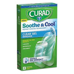 Soothe & Cool Clear Gel Bandages, 1.8 x 2.96, Clear, 8/Box