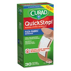 QuickStop Flex Fabric Bandages, 3/4 x 2.83, 30/Box