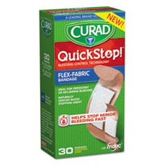 QuickStop Flex Fabric Bandages, Assorted, 30/Box