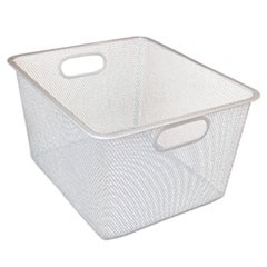 Wire Mesh Nesting Shelving Baskets, 12 x 14 x 7 3/4, Silver, 2/Set