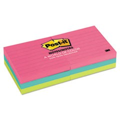 Original Pads in Cape Town Colors, 3 x 3, Lined, 100-Sheet, 6/Pack