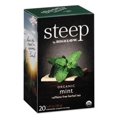 steep Tea, Mint, 1.41 oz Tea Bag, 20/Box