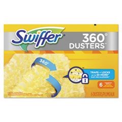 360 Dusters Refill, Dust Lock Fiber, Yellow, 6/Box