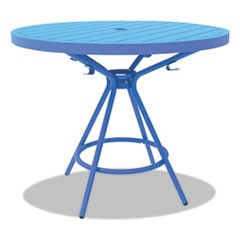 "CoGo Tables, Steel, Round, 30"" Diameter x 29 1/2"" High, Blue"