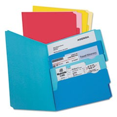 Divide it Up File Folder, Multi Section, 1/2 Cut Tab, Letter, Assorted, 24/Pack