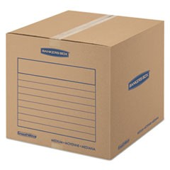 SmoothMove Basic Medium Moving Boxes, 18l x 18w x 16h, Kraft/Blue, 20/Bundle