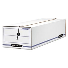 LIBERTY Basic Storage Box, Record Form, 8 3/4 x 23 3/4 x 7, White/Blue, 12/CT