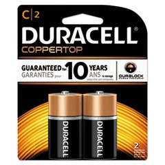 CopperTop Alkaline Batteries, C, 2/PK