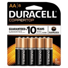 CopperTop Alkaline Batteries, AA, 8/PK