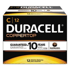 CopperTop Alkaline Batteries, C, 12/BX
