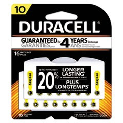 Button Cell Hearing Aid Battery, #10, 16/Pk